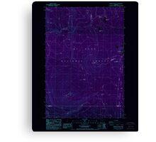 USGS Topo Map Oregon Pinhead Buttes 281099 1986 24000 Inverted Canvas Print