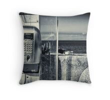 Telephone by the sea Throw Pillow