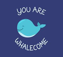 Whale, thank you! Womens Fitted T-Shirt
