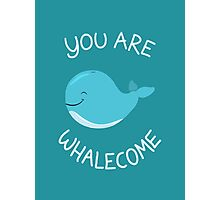 Whale, thank you! Photographic Print