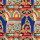 Tibetan Buddhist Symbolism Artisan Painting by TammyWinandArt