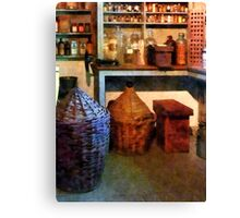 Medicine Bottles and Baskets Canvas Print