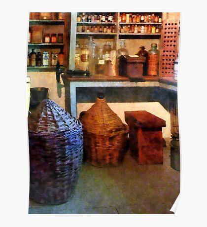Medicine Bottles and Baskets Poster
