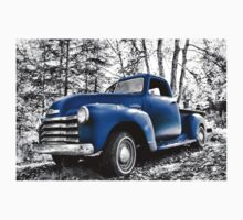 B/W & Old Blue Truck Kids Clothes