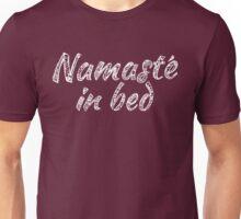 namaste_whitewords Unisex T-Shirt