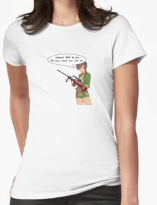 Army girl design with pink aug from call of duty black ops. T-Shirt