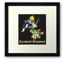 Ultimate Showdown / text Framed Print