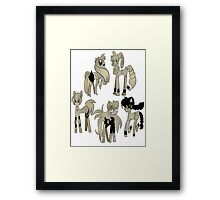 Anime Ponies Framed Print