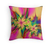 Flower Cyber 120 Throw Pillow