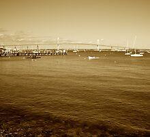 The Pell Bridge - Jamestown to Newport, Rhode Island by Jack McCabe