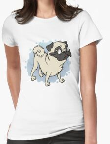 Gustav the Pug Womens Fitted T-Shirt