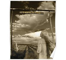 Trails End Ghostly Photo Poster