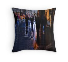 liquify as you go by Throw Pillow