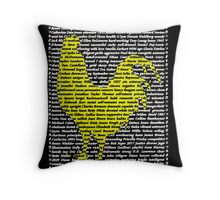 """""""The Year Of The Rooster / Cockerel"""" Cards Throw Pillow"""
