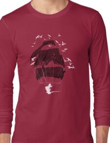 Tethered - wakeboarding pirate Long Sleeve T-Shirt