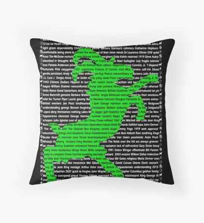"""The Year Of The Sheep / Goat / Ram"" Cards Throw Pillow"