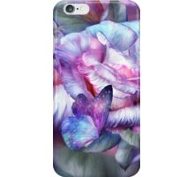 Purple Rose And Butterflies iPhone Case/Skin
