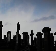 Headstones at Oban by SWEEPER