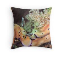 Nose to tail - sea slugs Throw Pillow