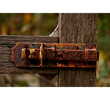 Old Latch! Photographic Print