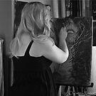 Process of Mine...Self Portrait by C Rodriguez
