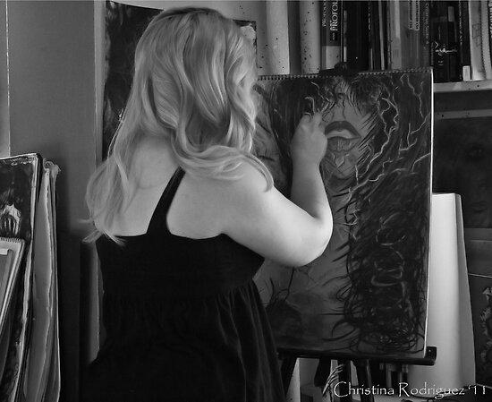 Process of Mine...Self Portrait by Christina Rodriguez