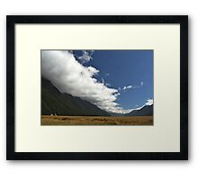 Inversion Layer in New Zealand Framed Print
