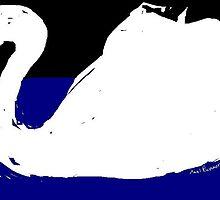 swan -(190611)- digital drawing/ms paint by paulramnora