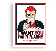 Commander Red Wants YOU! Canvas Print