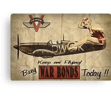 Vintage / Retro Pin Up Propaganda Canvas Print