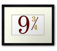 Nine and Three Quarters Framed Print