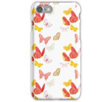 Nature insect pattern butterflies iPhone Case/Skin