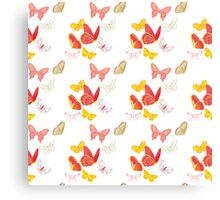 Nature insect pattern butterflies Canvas Print