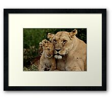 Out of Africa - Hello Mum Framed Print