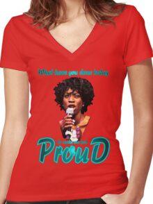 Miranda 01 Women's Fitted V-Neck T-Shirt
