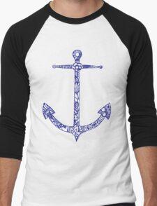anchor_purp Men's Baseball ¾ T-Shirt