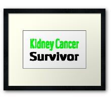 Kidney Cancer Framed Print