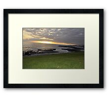 grass sunset Framed Print