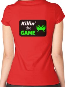 Rectangle Killin' the game- black Women's Fitted Scoop T-Shirt