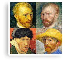 Vincent Van Gogh - 4 Self Portraits Canvas Print