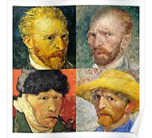 Vincent Van Gogh - 4 Self Portraits Poster