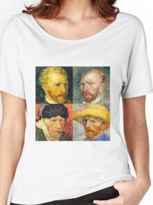 Vincent Van Gogh - 4 Self Portraits Women's Relaxed Fit T-Shirt