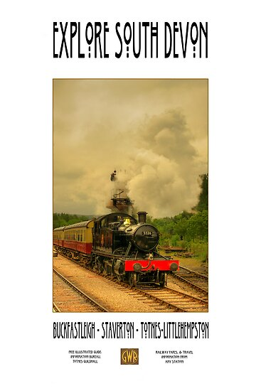 Rail Travel Poster Series - Part 5 :'Explore South Devon' by morpheus71