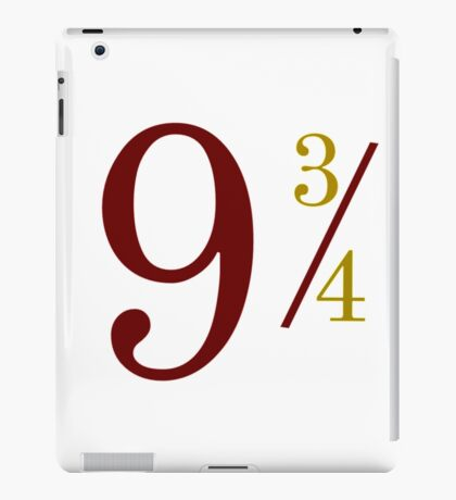 Nine and Three Quarters iPad Case/Skin