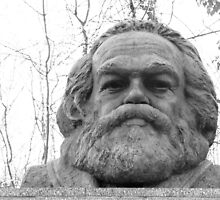 Karl Marx Tomb- Black and White by PhotosbyDrJ