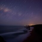 Star Trails and the Apostles by Timo Balk