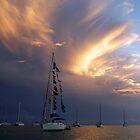 Stormy Sunset by Leon Heyns