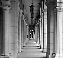 Looking down the archway by AskinImages