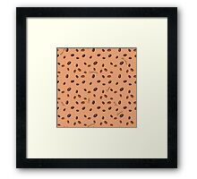 'Smells like coffee' pattern Framed Print