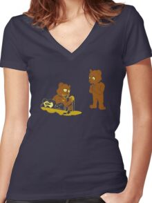 Cannibalism? Women's Fitted V-Neck T-Shirt